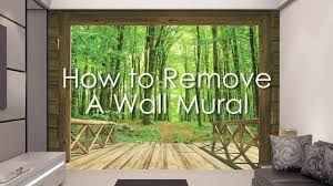 how to remove a wall mural youtube