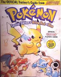 pokemon trainer guide yellow red and blue nintendo pokemon