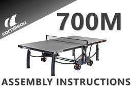 cornilleau ping pong table assembling the cornilleau 700m indoor outdoor crossover ping pong