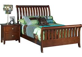 shop for a santa cruz dark pine 3 pc full sleigh bed at rooms to