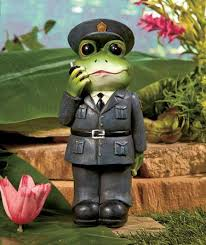 new occupational frog garden statue fireman