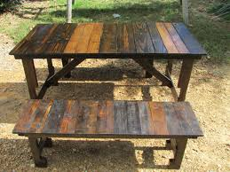 Convertible Picnic Table Bench Wood Picnic Table Costway Solid Pine Wood Picnic Table W Attached