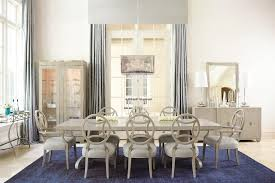 bernhardt salon 3 piece dining set with round glass top table