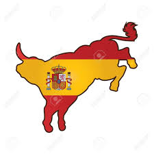 Bull Flag Bull With Spain Flag Royalty Free Cliparts Vectors And Stock