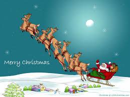 Lighted Santa Sleigh Reindeer Set by Santa Claus Flying Reindeer Wallpaper Santa Flying Reindeer