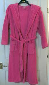 gorgeous neon pink hooded dressing gown by george sz s b4 for