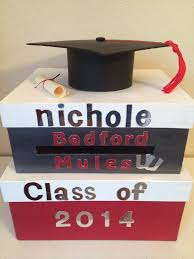graduation card box custom two tiered square silver white and graduation card box by