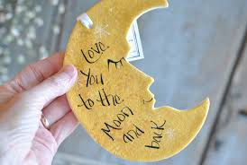 you to the moon and back salt dough wall hanger ornament