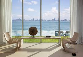 Beach Living Room by Tour A 29 Million Modernist Mansion For Sale In Miami Beach