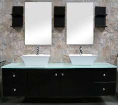 Double Vessel Sink Bathroom Vanities by 61 Inch Modern Double Ceramic Vessel Sink Bathroom Vanity Uvde071a61