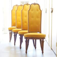 Funky Dining Chairs Vintage Highback Velvet Dining Chairs Furniture Pinterest