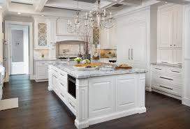 Breakfast Nook Chandelier Engineered Wood Flooring Kitchen Traditional With Chandelier Above