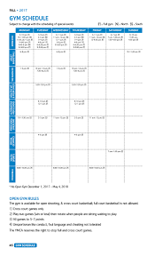 program schedules u0026 forms stevens point area ymca