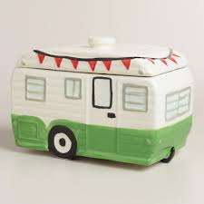 Retro Camper Camper Ceramic Cookie Jar World Market