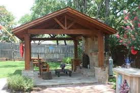 Covered Patio Ideas For Backyard by Covered Patio Free Standing Covered Patio With Fire Place