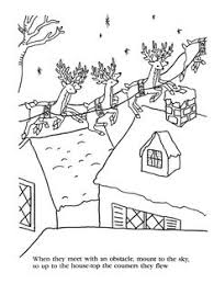 the night before christmas coloring pages now dasher now