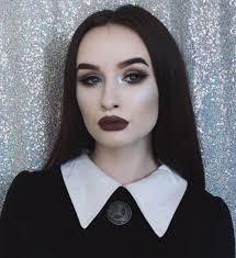 Wednesday Addams Halloween Costume 25 Wednesday Addams Makeup Ideas