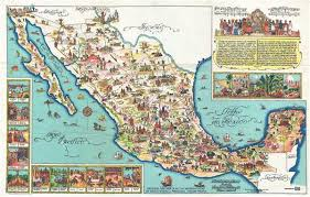middle east map medina pictorial map of mexico geographicus antique maps
