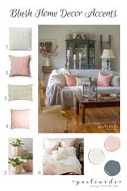 blush and bashful spring accents in the living room postcards