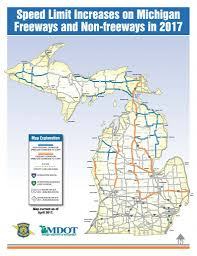Michigan Map With Counties by Michigan Speed Limit Increase Personal Injury Law Firm Personal
