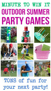 Backyard Drinking Games Minute To Win It Outdoor Summer Party Games Summer Party Games
