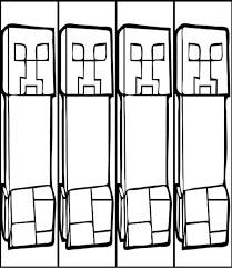 creeper 2 minecraft coloring pages