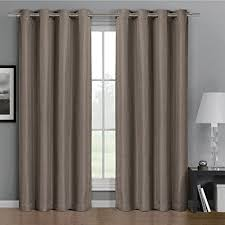 Brown Blackout Curtains Gulfport Brown Grommet Faux Linen Blackout Weave Window Curtains