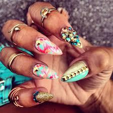 bright stiletto nails nails pinterest stilettos nail nail