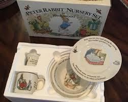 wedgwood rabbit nursery set rabbit plate etsy
