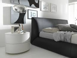 bedroom modern white nightstands ikea on wooden floor and pendant