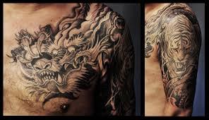 chronic ink tattoos toronto and tiger half sleeve