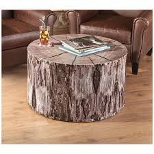tree trunk coffee table white tree stump coffee table diy tree stump coffee table