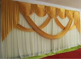 Wedding Backdrop Gold 3m 6m Luxury Gold Wedding Backdrop With Beatiful Swag Wedding