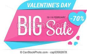 big valentines day s day sale s day big sale pink banner