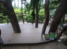 another tree platform deck chain hung with stairs and 1 ground