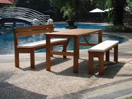 Table With Benches Set Garden Bench Table Set Table Designs