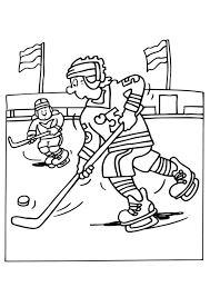hockey coloring pages for kids sport coloring pages of