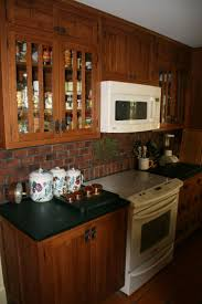 16 best kitchen brick tile back splashes images on pinterest