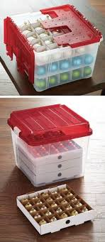 ornament storage box with 40 compartments signature