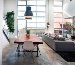 vancouver loft with vintage modern dining room industrial and
