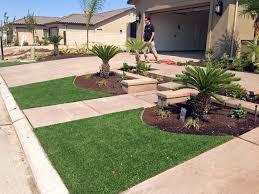 fake grass vincent california landscape design front yard ideas