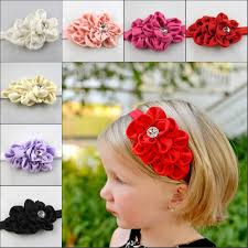crochet flower headband handmade knit headband kids crochet flower headwrap earband