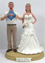superman wedding cake topper custom clark kent superman wedding cake topper