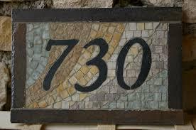 plaque numero rue 4 plaque de rue ardoise et marbre photo de 7 realisation