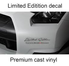 nissan frontier vinyl graphics product 2 x limited edition nismo body side hood decal sticker