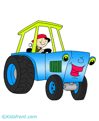 happy tractor coloring pages kids color print