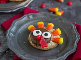 turkey decorated peanut butter cookies thanksgiving