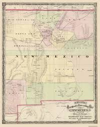 Map New Mexico by Old State Map New Mexico Territory Cram 1875