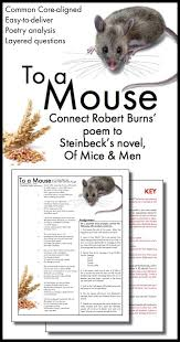 What Does Hashtag Mean To A Mouse U2013 Connect Robert Burns U0027 Poem To Steinbeck U0027s Of Mice And