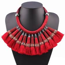 red big necklace images 2017 high quality fashionable new design big statement red jpg